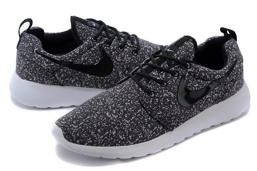 Nike Roshe Run Mens & Womens (unisex) Floral Black White Online Store