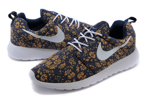 Nike Roshe Run Mens & Womens (unisex) Floral Blue White Gold Portugal