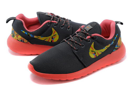 Nike Roshe Run Mens & Womens (unisex) Floral Carbon Gray Orange Promo Code