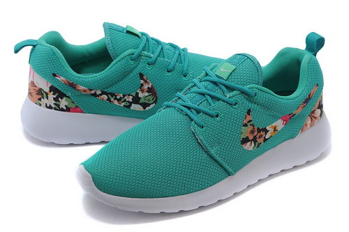 Nike Roshe Run Mens & Womens (unisex) Floral Green White Clearance