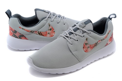Nike Roshe Run Mens & Womens (unisex) Floral Light Gray Korea