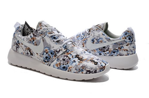 Nike Roshe Run Mens & Womens (unisex) Print Light Grey White Cheap
