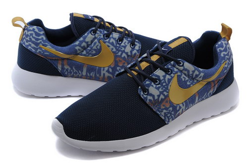 Nike Roshe Run Mens Floral Blue Gold Spain