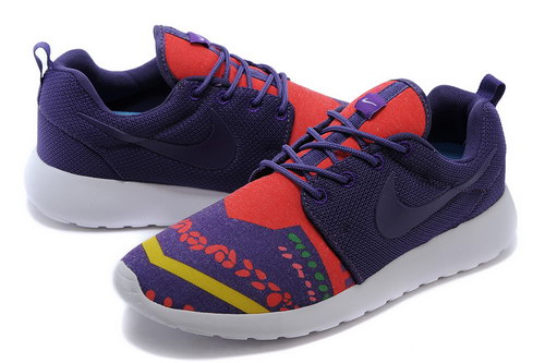 Nike Roshe Run Mens Floral Purple Orange Review