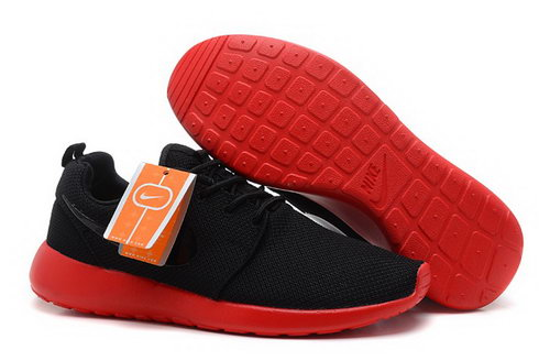 Nike Roshe Run Mens Shoes Breathable For Summer Black Red For Sale