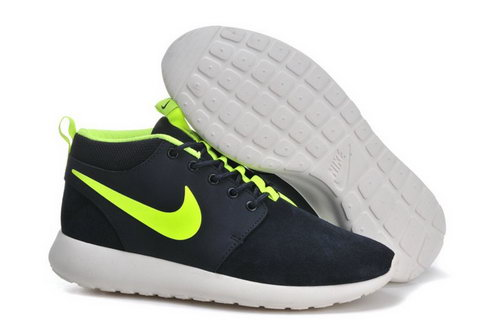 Nike Roshe Run Mens Shoes High Black Green Netherlands