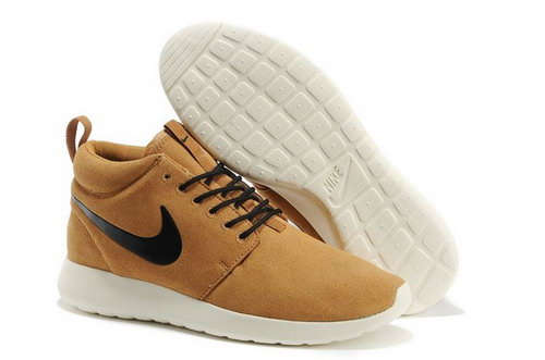 Nike Roshe Run Mens Shoes High Warm Special Light Brown Black Discount Code