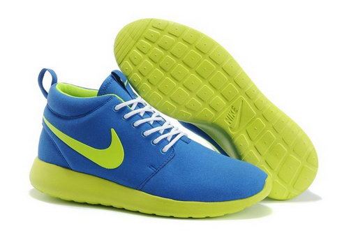 Nike Roshe Run Mens Shoes High Warm Special Sky Blue Green Outlet