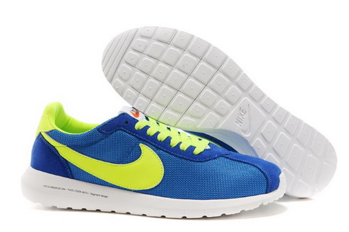 Nike Roshe Run Mens Shoes Lake Blue Yelow White Special Discount Code