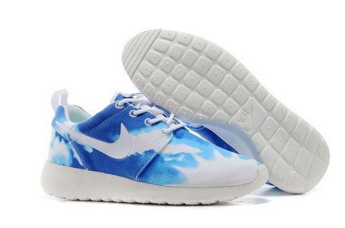 Nike Roshe Run Mens Shoes Sky Blue White Low Price