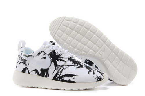Nike Roshe Run Mens Shoes Tree White Black Coupon