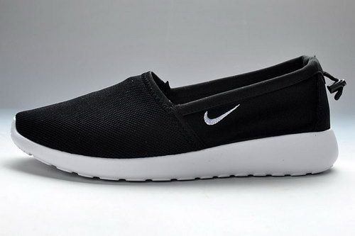 Nike Roshe Run Slip On Mens Shoes Black White