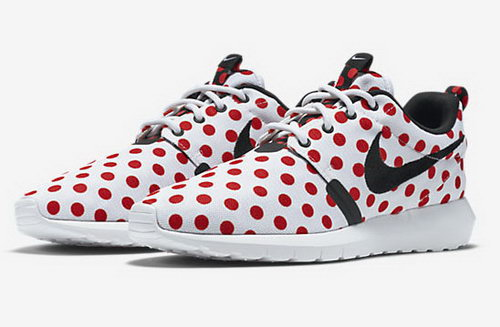Nike Roshe Run Speckle Pattern White Red 36-39 Taiwan