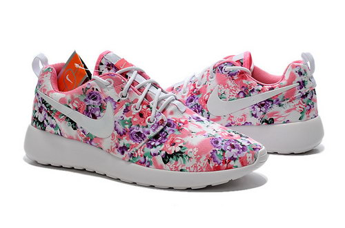Nike Roshe Run Womens 2015 Print Light Pink White Best Price