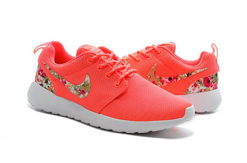 Nike Roshe Run Womens Flower Hook Peach Flower Taiwan