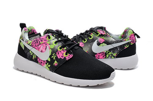 Nike Roshe Run Womens Print Flowers Black Apple Green 36 40 Germany