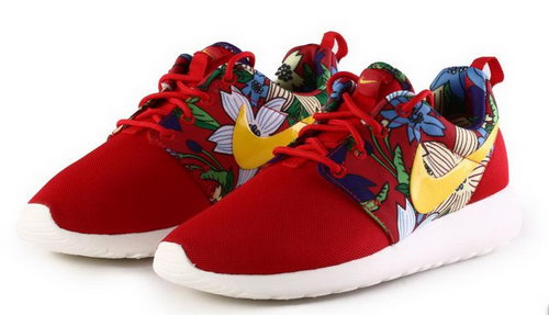 Nike Roshe Run Womens Print Flowers Red Sunflower Review
