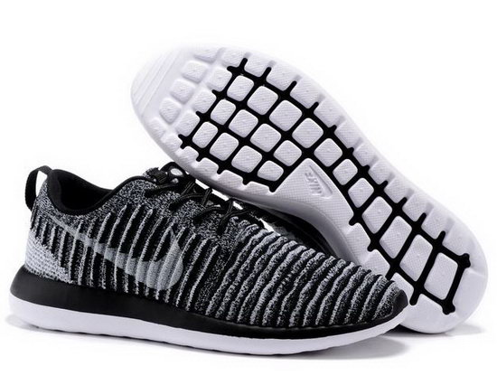 Nike Roshe Two Flyknit Mens & Womens (unisex) Grey Black Low Cost