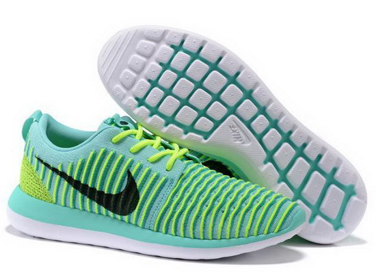 Nike Roshe Two Flyknit Mens & Womens (unisex) Yellow Mint Green Discount Code