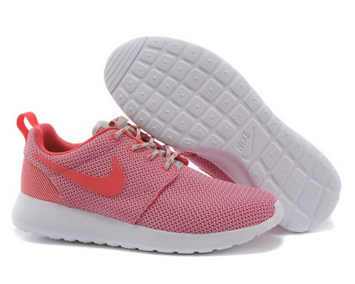Nike Roshe Womenss Running Shoes Light Red Special Coupon Code
