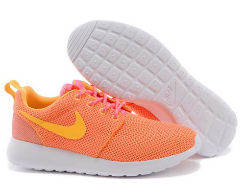 Nike Roshe Womenss Running Shoes Orange Yellow Special Wholesale