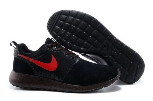 Nike Rosherun Snakeskin Mens Shoes Black Red Hot Factory Outlet
