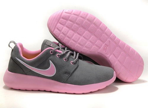 Nike Wmns Roshe Running Shoes Wool Skin Comfort Casual Grey Pink For Sale