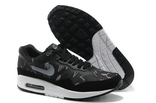 Nike Wmns Air Max 1 Cmft Prm Tape Men Black White Running Shoes On Sale