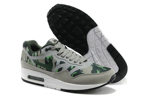 Nike Wmns Air Max 1 Cmft Prm Tape Men Gray Green Running Shoes Reduced
