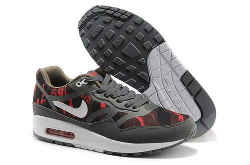 Nike Wmns Air Max 1 Cmft Prm Tape Men Gray Red Running Shoes Online