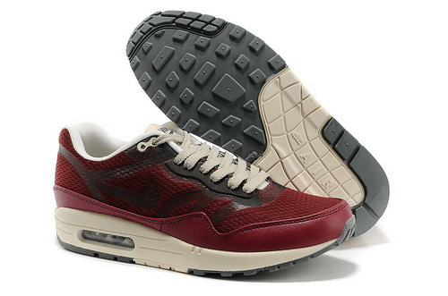 Nike Wmns Air Max 1 Cmft Prm Tape Unisex All Red Running Shoes France