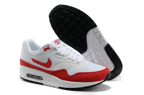 Nike Wmns Air Max 1 Cmft Prm Tape Unisex White Red Running Shoes Taiwan