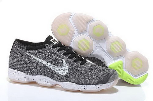 Nike Flyknit Agility Mens Shoes Gray White Uk
