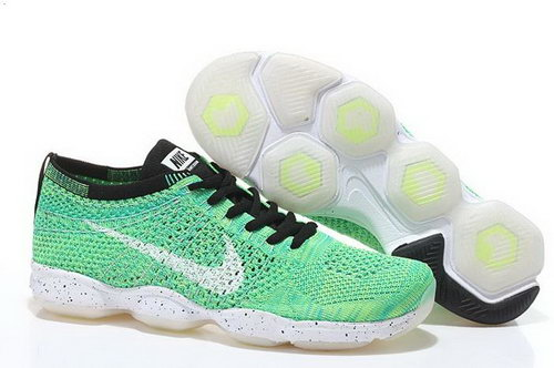 Nike Flyknit Agility Womens Shoes Light Green White Sale