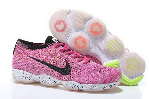 Nike Flyknit Agility Womens Shoes Light Pink Black White For Sale