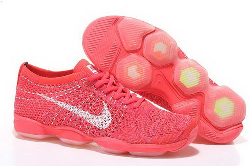 Nike Flyknit Agility Womens Shoes Peach Red White Online Store