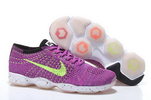 Nike Flyknit Agility Womens Shoes Rose Red Green White Outlet Store