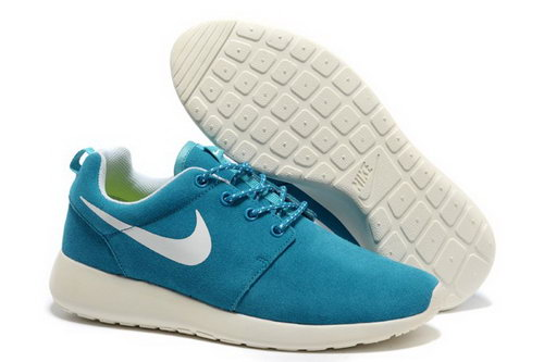 Online To Buy Nike Wmns Roshe Running Shoes Wool Skin For Sale Blue White Online Store