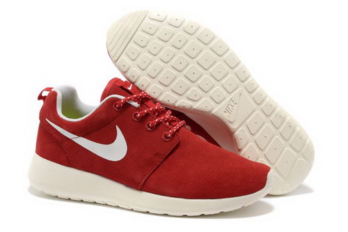 Online To Buy Nike Wmns Roshe Running Shoes Wool Skin For Sale Red White Outlet Store