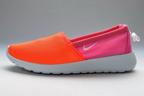 Orange Peach-red White Nike Roshe Run Slip On Womens Shoes Ireland
