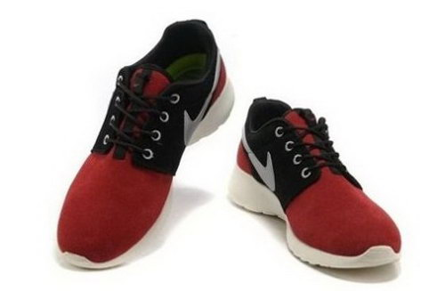 Shopping Nike Roshe Run Mens Shoes Red Black White Factory Outlet