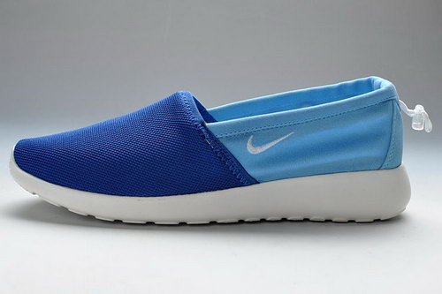 Sky-blue White Nike Roshe Run Slip On Mens Casual Shoes Factory Store