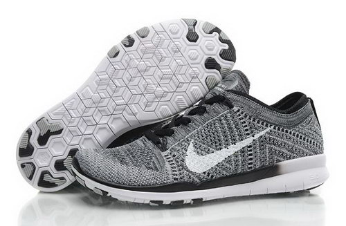 Wmns Nike Free Tr Flyknit 5.0 Womens Shoes Gray White Black New Hot Japan