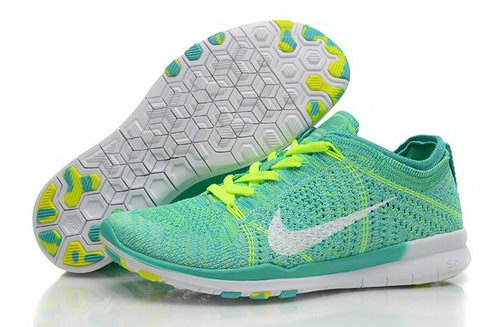 Wmns Nike Free Tr Flyknit 5.0 Womens Shoes Green White Light New Hot Usa