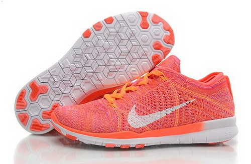 Wmns Nike Free Tr Flyknit 5.0 Womens Shoes Light Orange White New Hot Australia