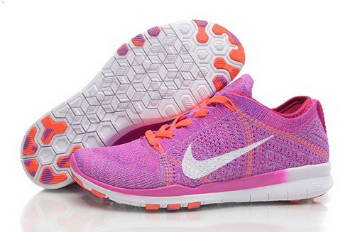 Wmns Nike Free Tr Flyknit 5.0 Womens Shoes Rose Red Orange White New Hot Clearance