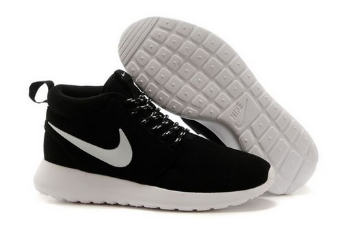 Wmns Nike Roshe Run Womenss Shoes High Warm Special Black White Factory