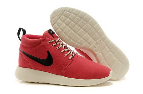 Wmns Nike Roshe Run Womenss Shoes High Warm Special Peach Red Black Coupon