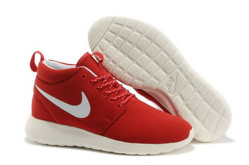 Wmns Nike Roshe Run Womenss Shoes High Warm Special Red White Sweden