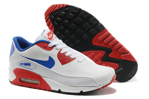 Wmns Nike Air Max 90 Prem Tape Sn Men Blue And Red Running Shoes Inexpensive